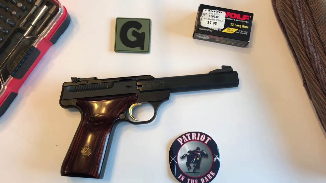 Browning Buck mark 22lr Pistol Descriptive Field Strip while Totally Blind Pt 1 Overview