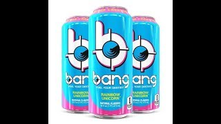 Bang Energy Drink Rainbow Unicorn Taste Test and Tabletop Review!