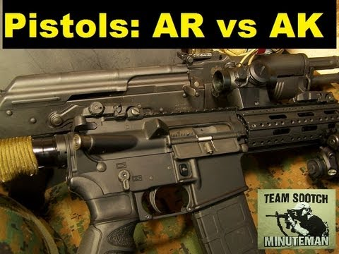 AR vs AK Pistol