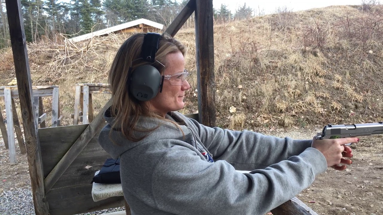 My sister Michelle first time shooter