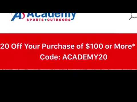 $20 off at academy