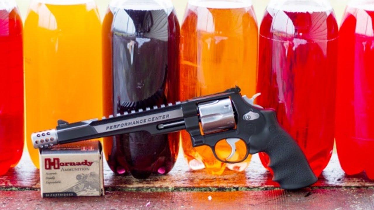 Smith & Wesson .44 Magnum Hunter vs 2 Liter Sodas