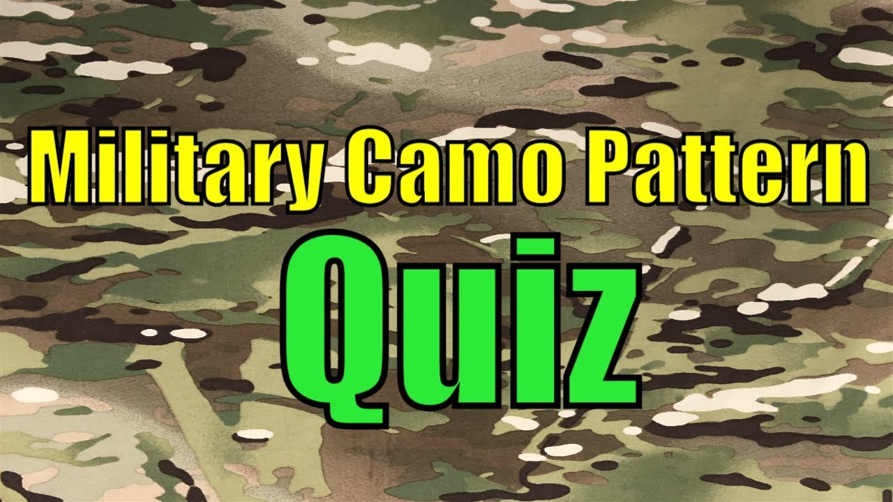 Camo Quiz Sportsmans Guide - Can You Name These Famous Military Camo Patterns?