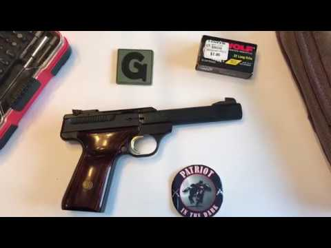 Browning Buck Mark 22lr Pistol Descriptive Field Strip while Totally Blind Complete