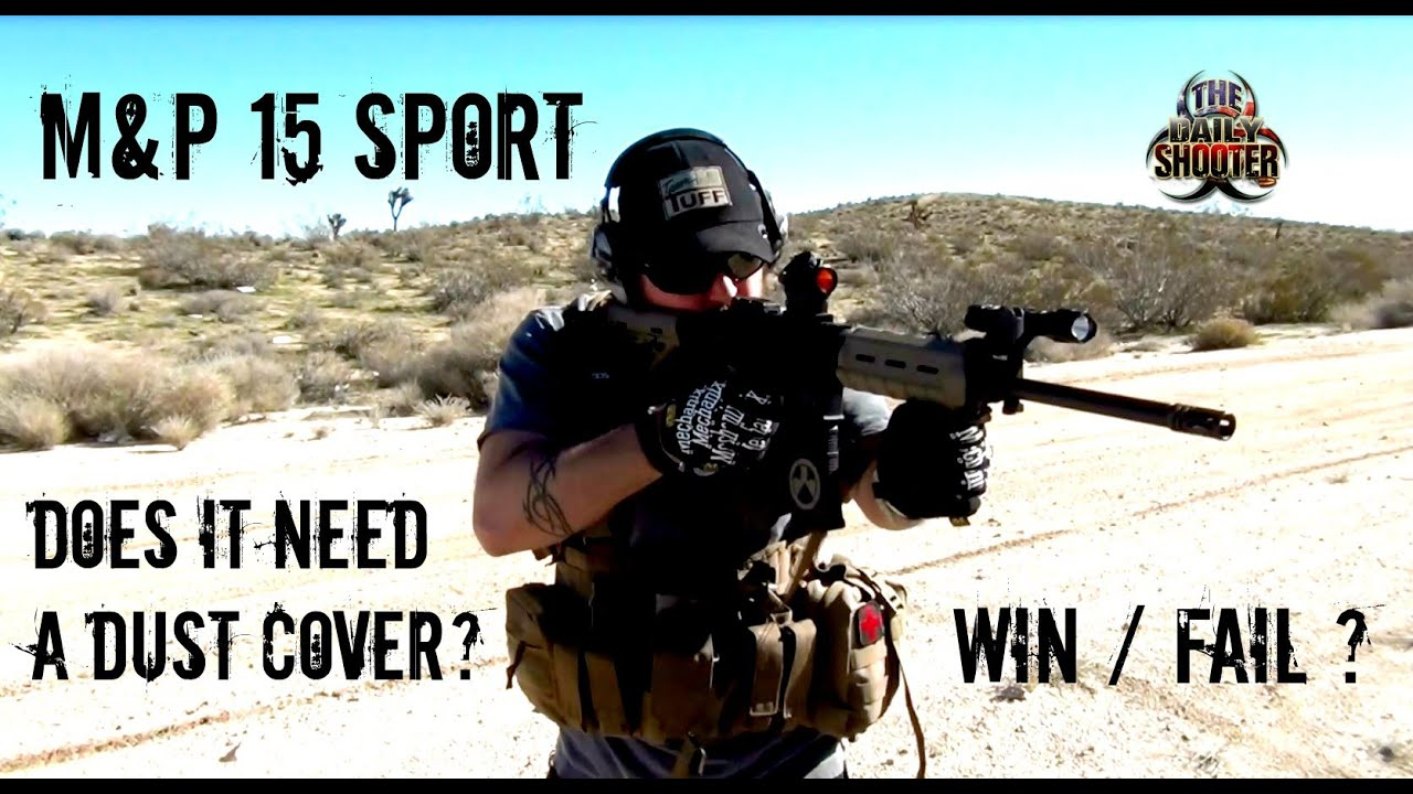 S&W M&P 15 Sport No Dust Cover Shooting in the Desert