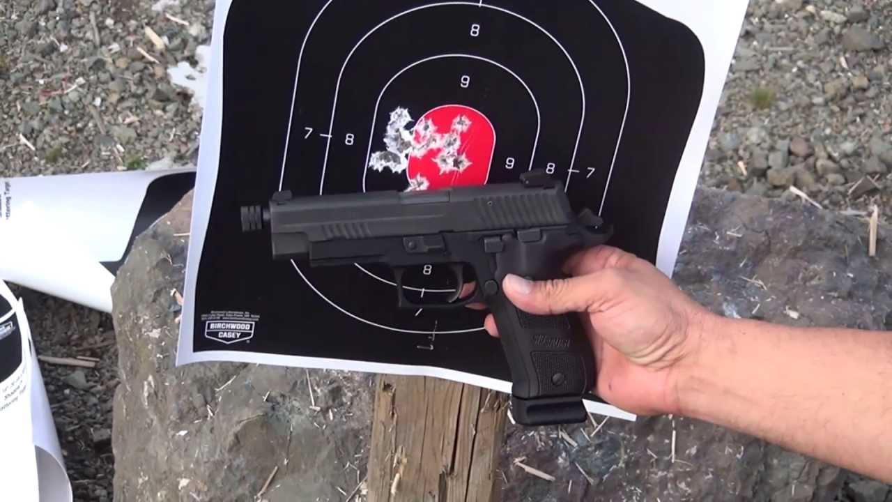 NEW SIG SAUER P226 DARK ELITE AT THE RANGE.