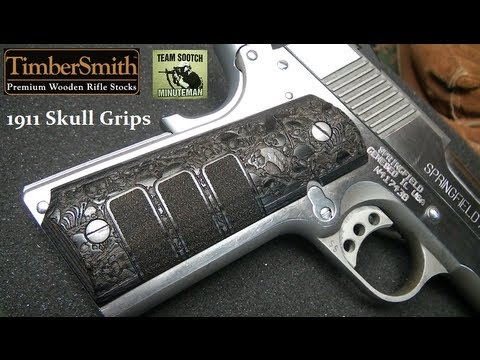 1911 Skull Pistol Grips by Timbersmith