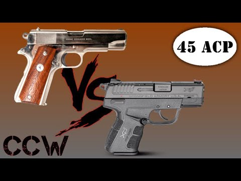 Retro VS Modern 45ACP Concealed Carry Choices Pros And Cons