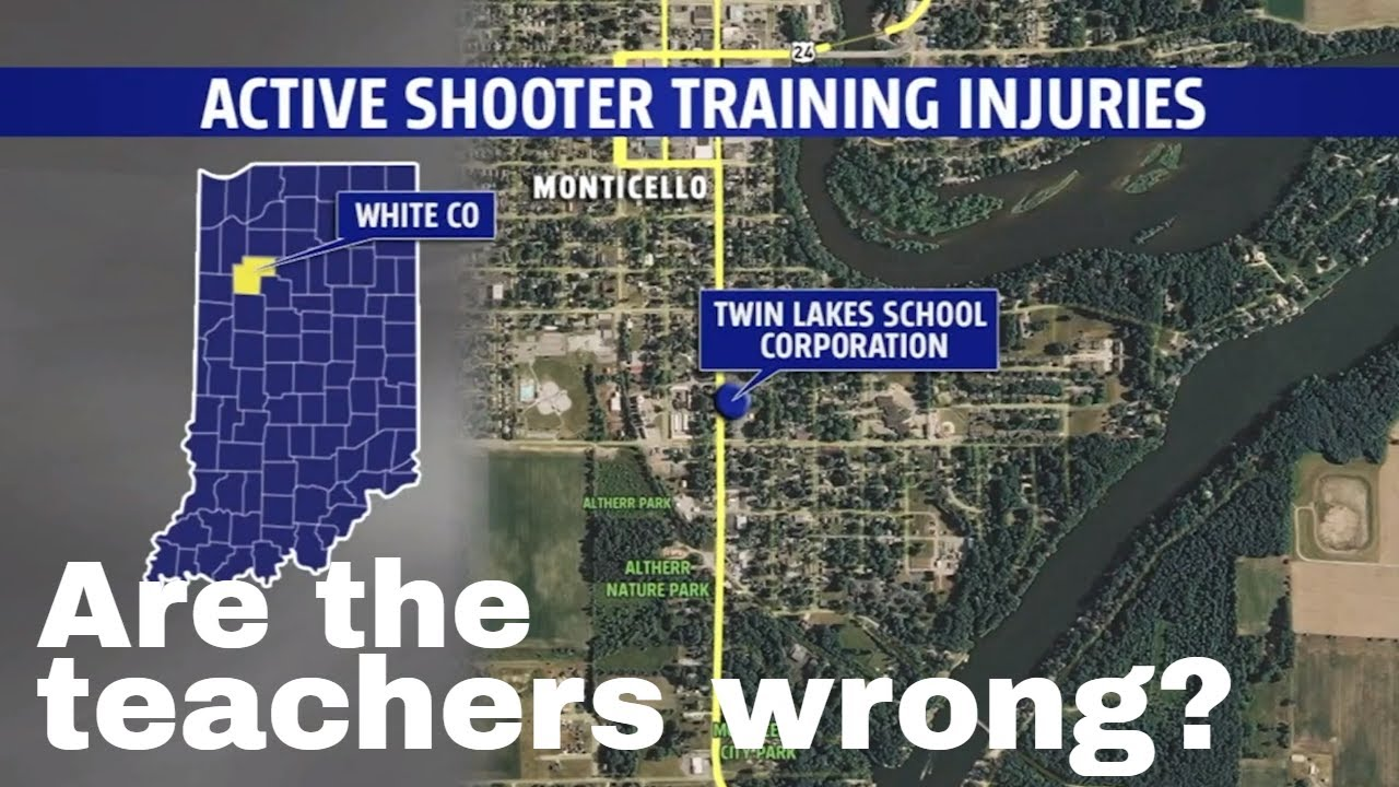 Indiana teachers hurt by Airsoft guns used in active shooter drill