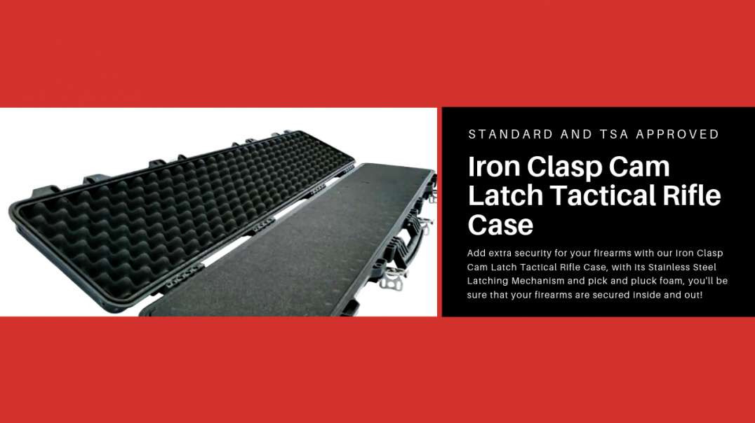 Iron Clasp™ Cam Latch™ Standard and TSA Approved Pick and Pluck Hard Shell Tactical Air Rifle Case