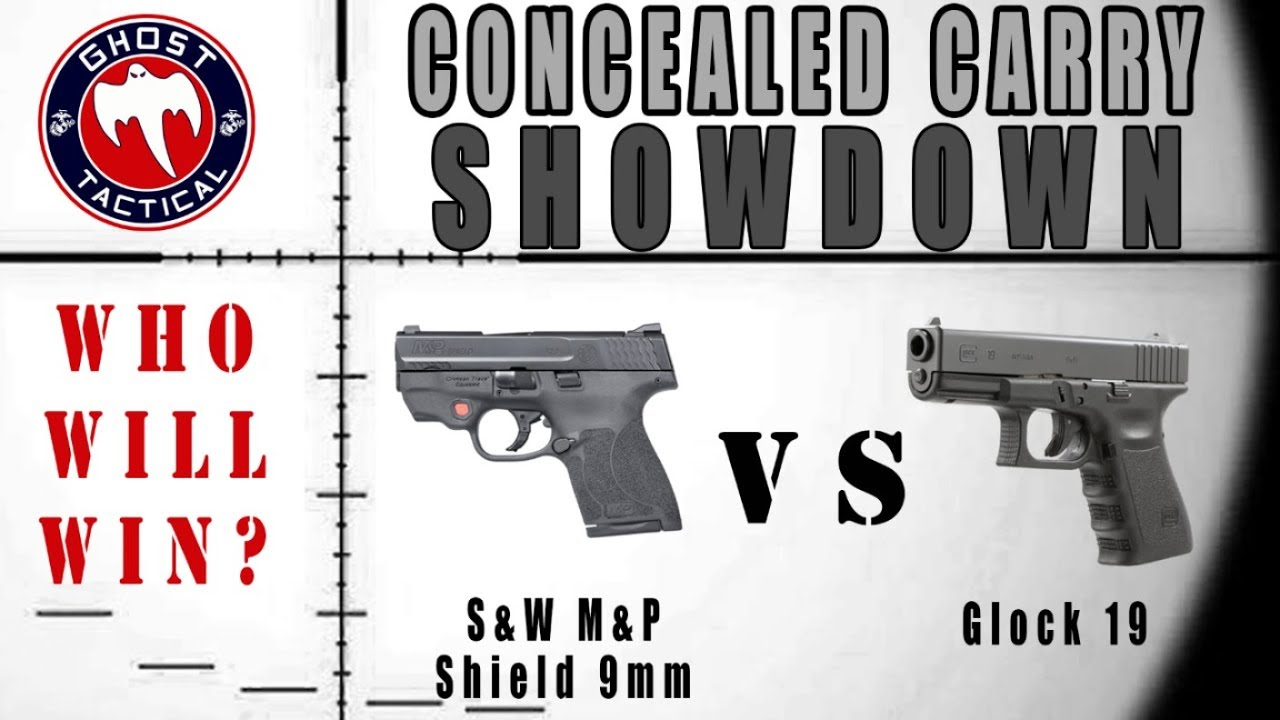 Concealed Carry Showdown:  M&P Shield 9mm vs Glock 19