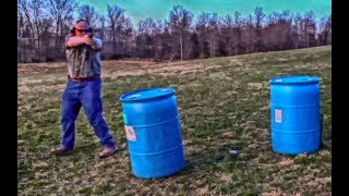 Pistol shooting on the move
