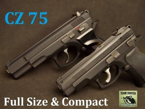 CZ 75 Full Size and Compact 9mm Pistol Comparison