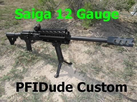 Saiga 12 Gauge Shotgun Customized by PFIDude