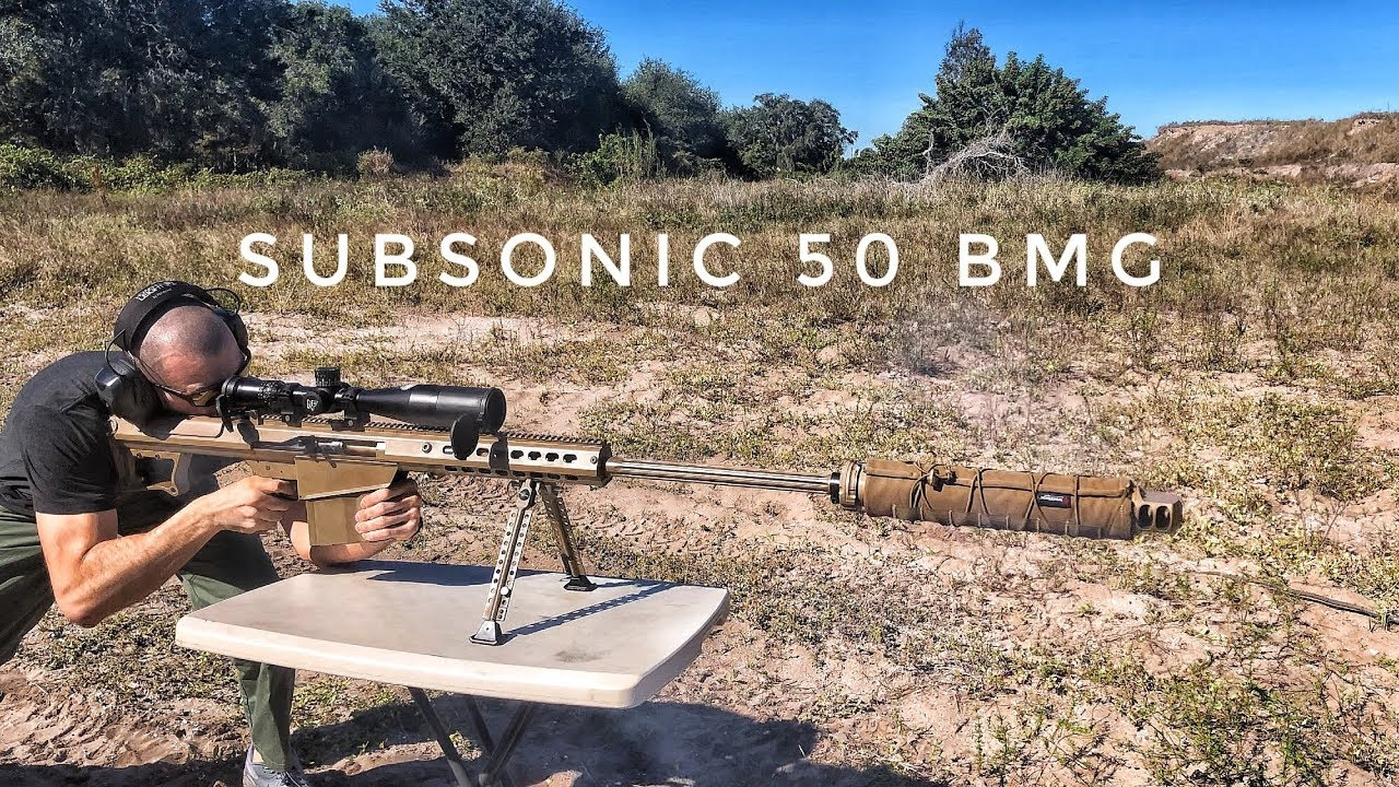 Suppressed Barrett M107A1 with SUBSONIC 50 BMG