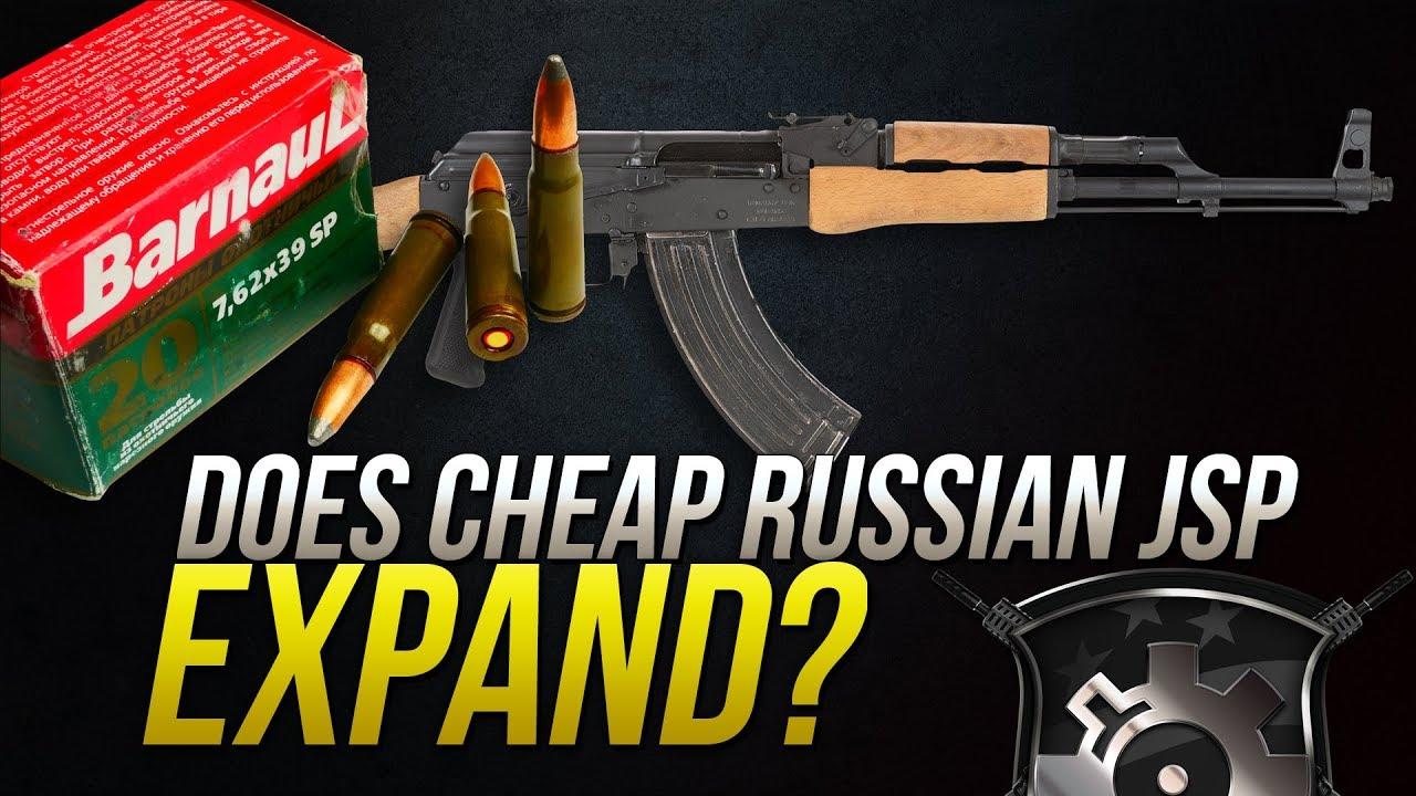 Does Cheap Russian JSP Expand?7.62x39mm Barnaul 125gr Soft Point Gel Test