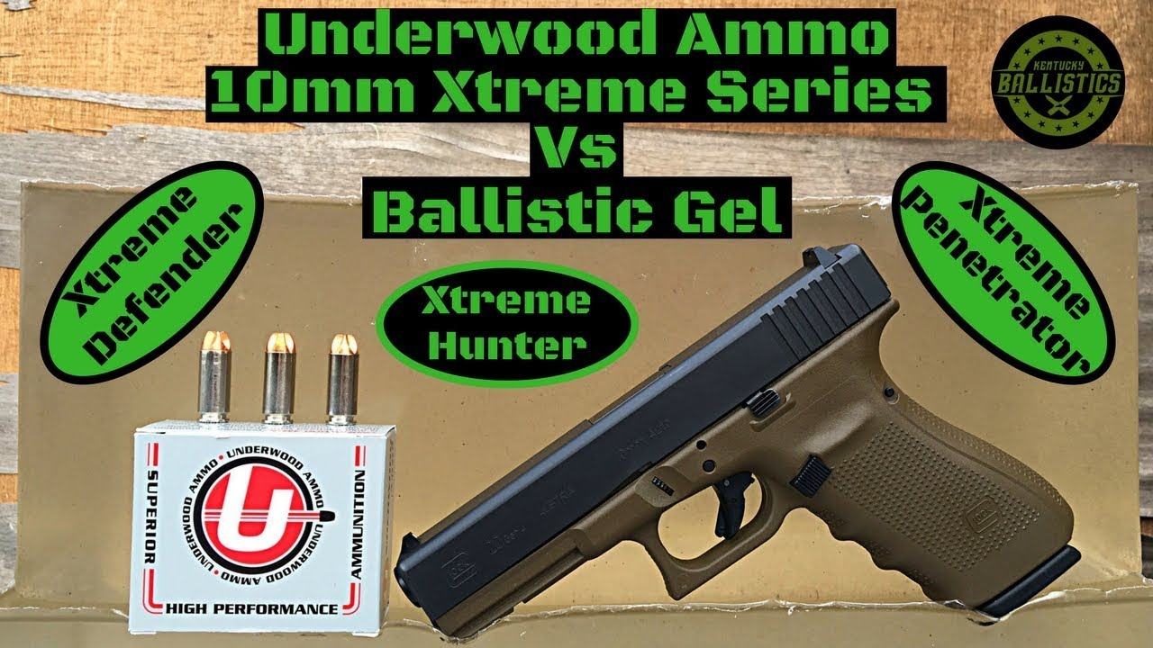 Underwood Ammo 10mm Xtreme Series vs Ballistic Gel