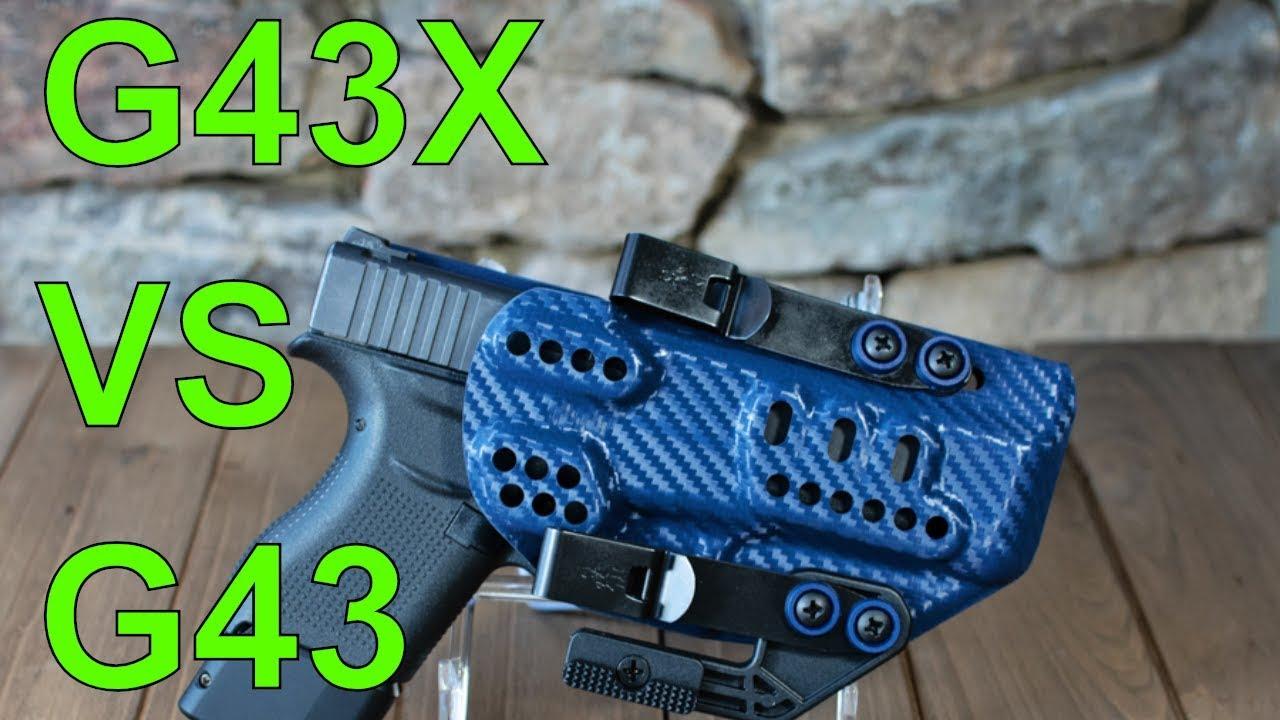 Size Comparison: Glock 43x vs Glock 43