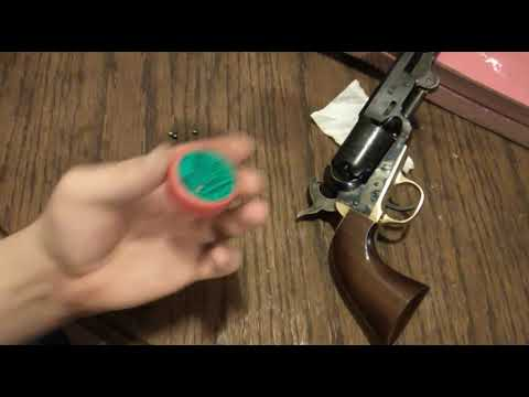 How to load cap and ball revolver with paper cartiges.