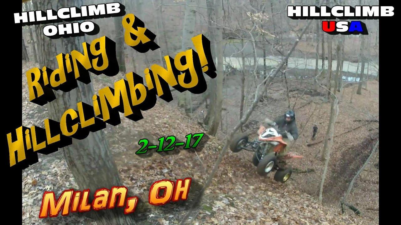 [HILLCLIMB OHIO]2-12-17 Hillclimbing/Riding in Milan, Oh