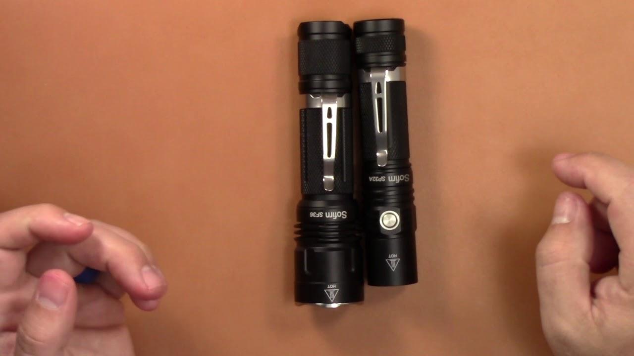 Sofrin SF36 Flashlight Review-1070 Lumens!