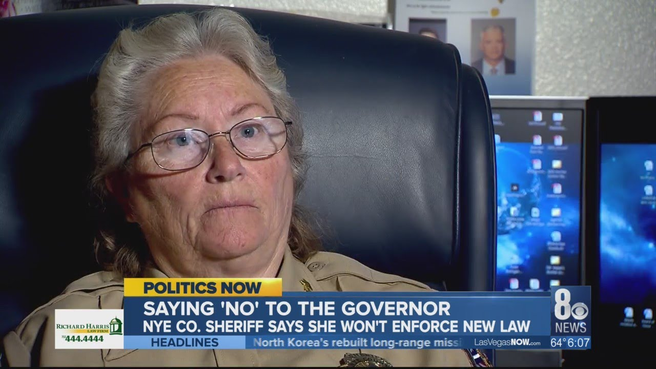 Nye County Sheriff says she won't enforce law requiring background checks on most private gun sales