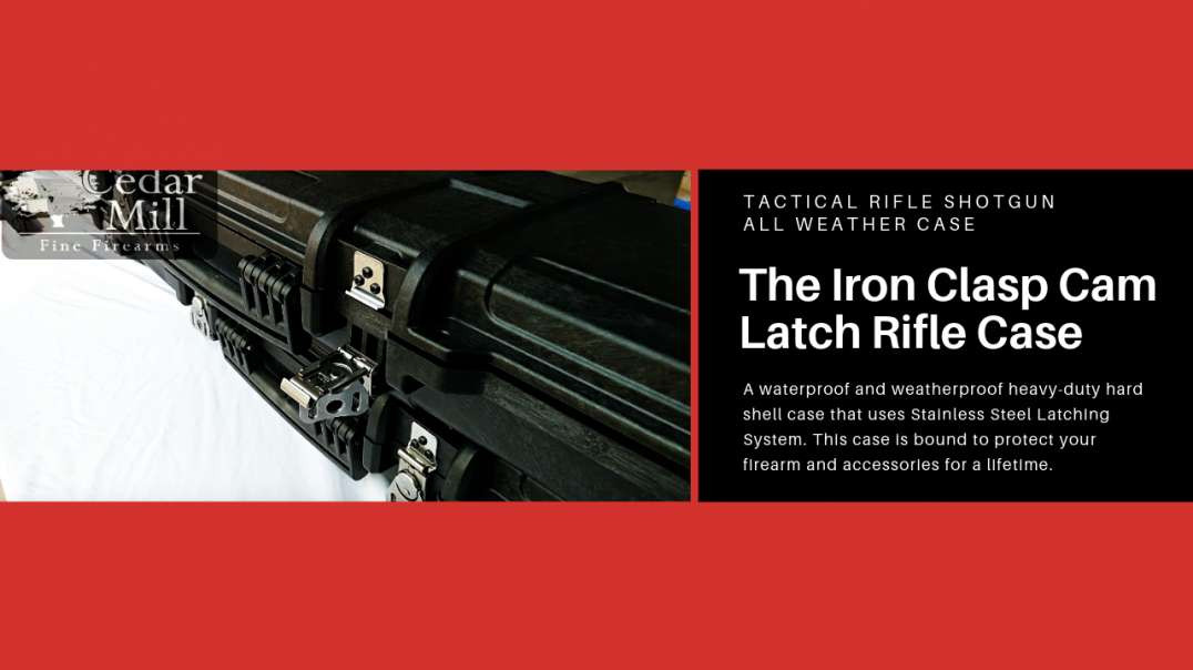 Cedar Mill Firearms Iron Clasp Cam Latch - Top TSA Approved Tactical Rifle Shotgun All Weather Case