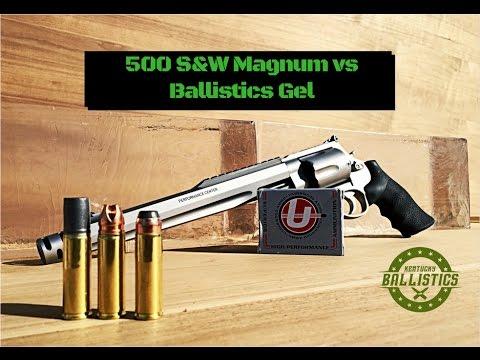 500 S&W Magnum vs Ballistics Gel