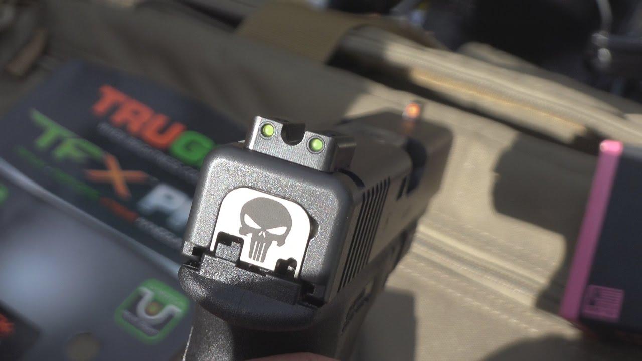 Glock .45ACP/10mm TRUGLO TFX PRO Tritium & Fiber Optic Night Sights