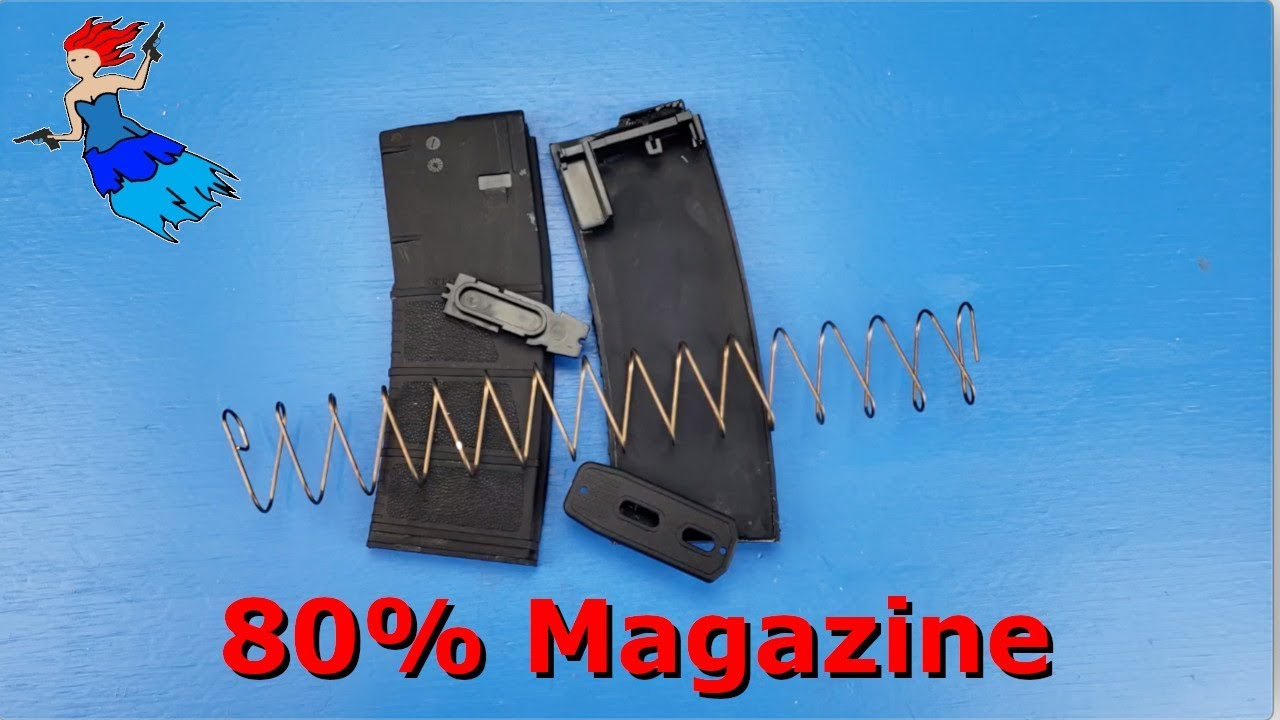 Completing the AR 15 80 percent magazine