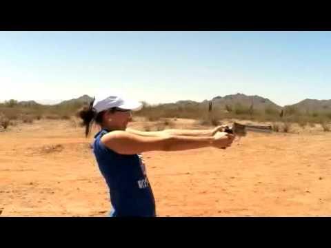 Stephanie Shooting the Colt Anaconda