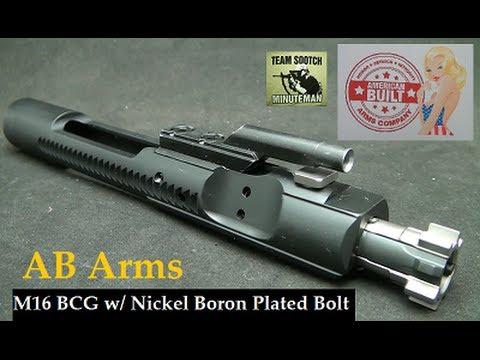 AB Arms Mil-Spec AR-15 Nickel Boron Coated Bolt & M-16 Bolt Carrier