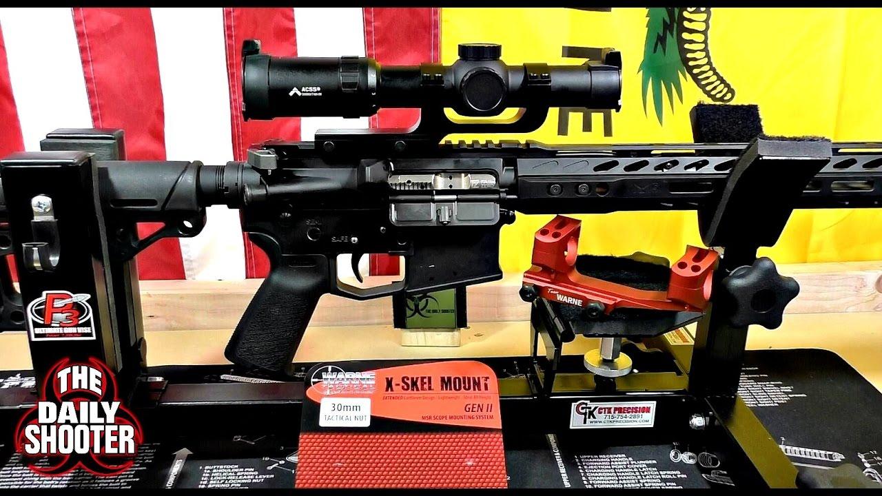 Warne Tactical X-Skel Scope Mount 30mm Red