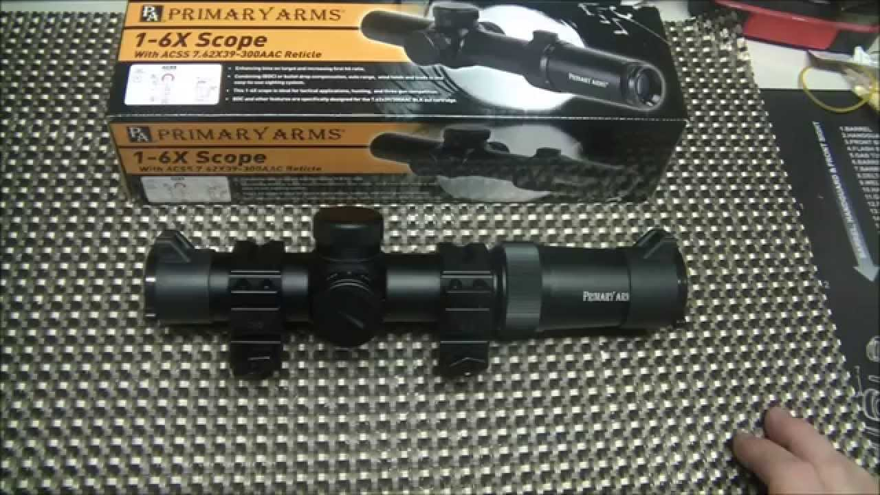 Primary Arms 1-6x ACSS Scope 7.62x39/300AAC(Gen 2)