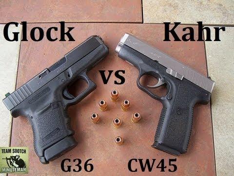 Glock 36 vs Kahr CW45 Pistol Comparison