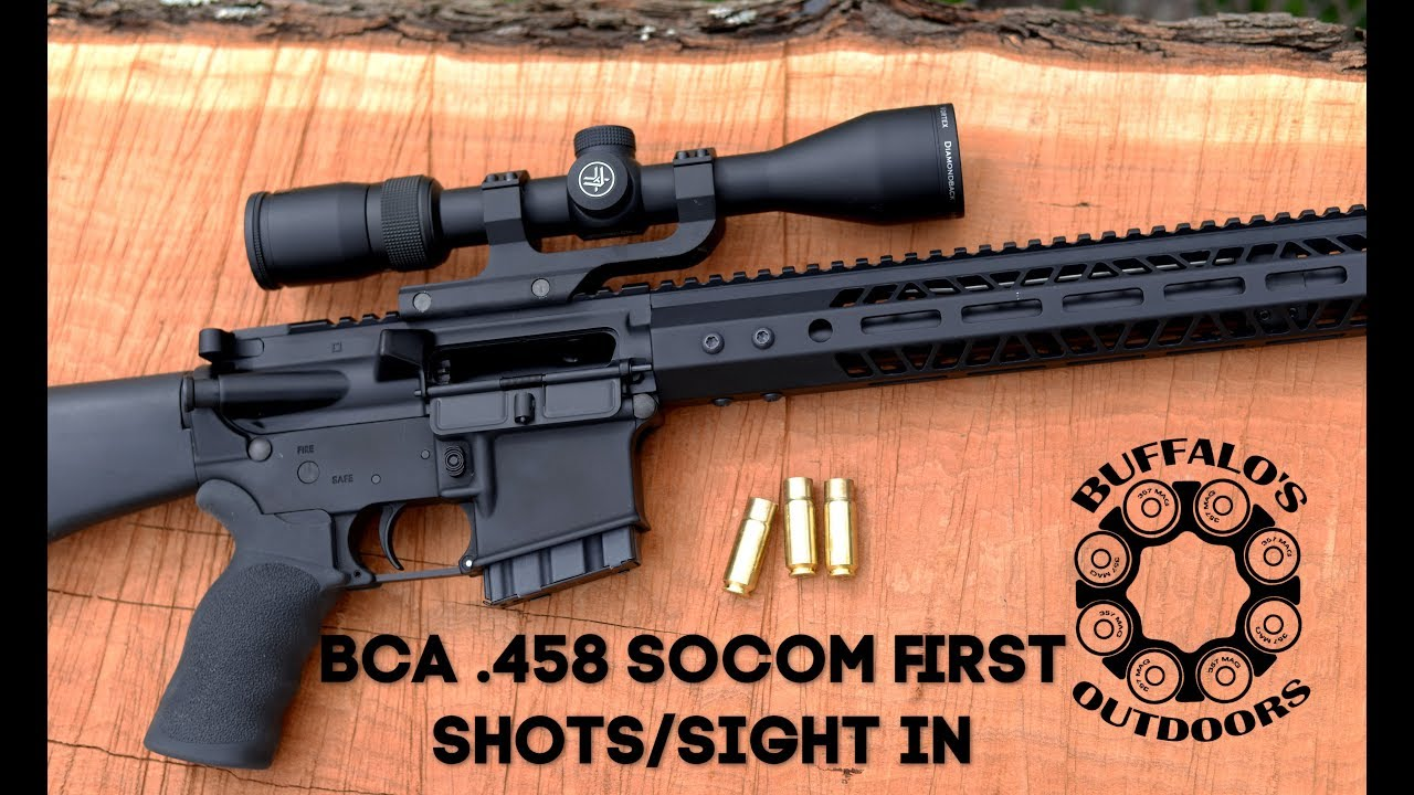 Bear Creek Arsenal .458 socom Part 2 - First shots and sight in