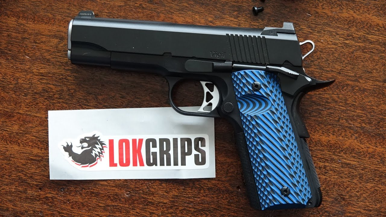 Dan Wesson Vigil Commander 1911 with LOK Grips
