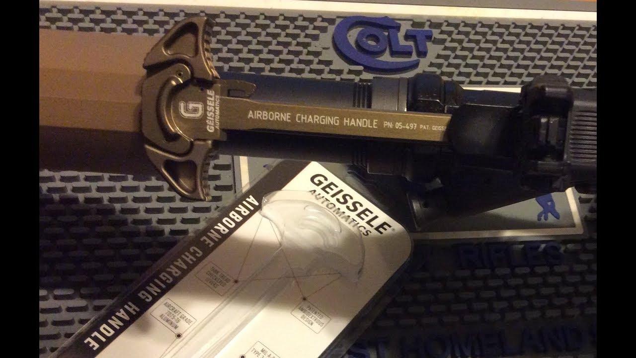 Geissele Airborne Charging Handle   Colt LE6945 Mk18 AR Pistol Project