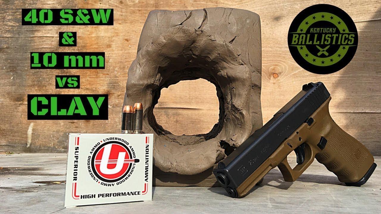 40 S&W vs 10mm vs Clay