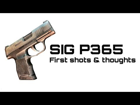 SIG P365 First Shots & Thoughts