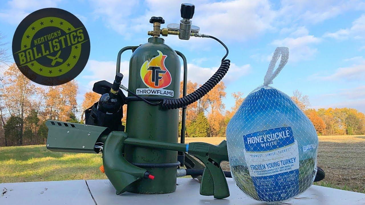 How To Cook A Turkey With A Flamethrower! (Flamethrower vs Turkey)