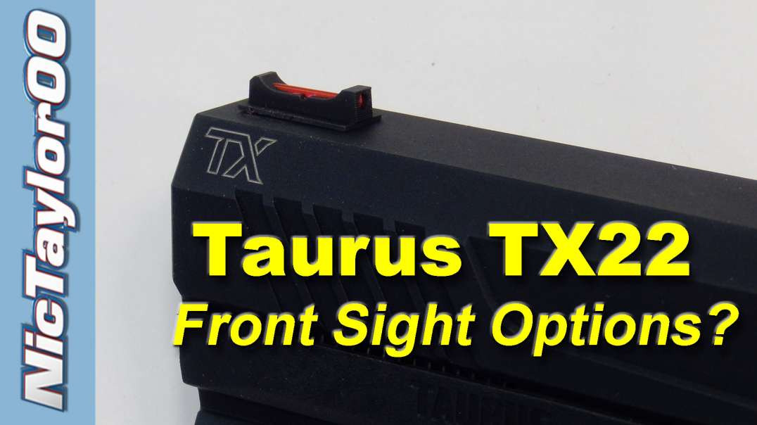 Taurus TX22 Fiber Front Sight Install