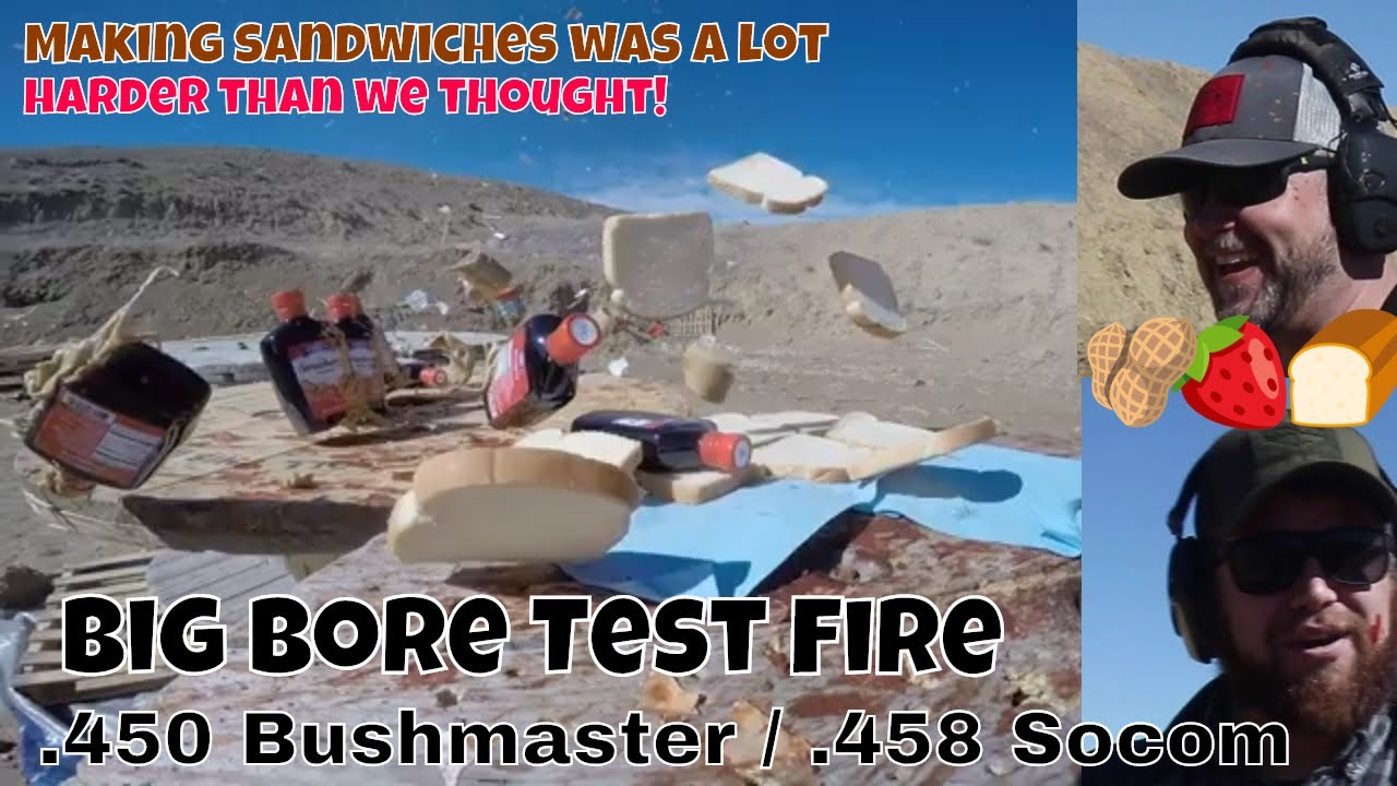 The worst peanut butter & jelly sandwiches ever. .450 BushMaster and .458 Socom test