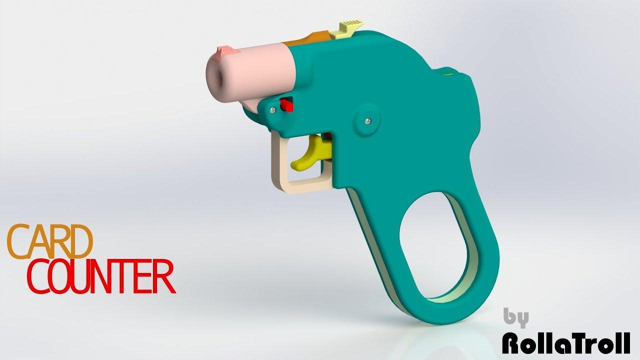FOSSCAD: Card Counter Pistol (.380 or .22)