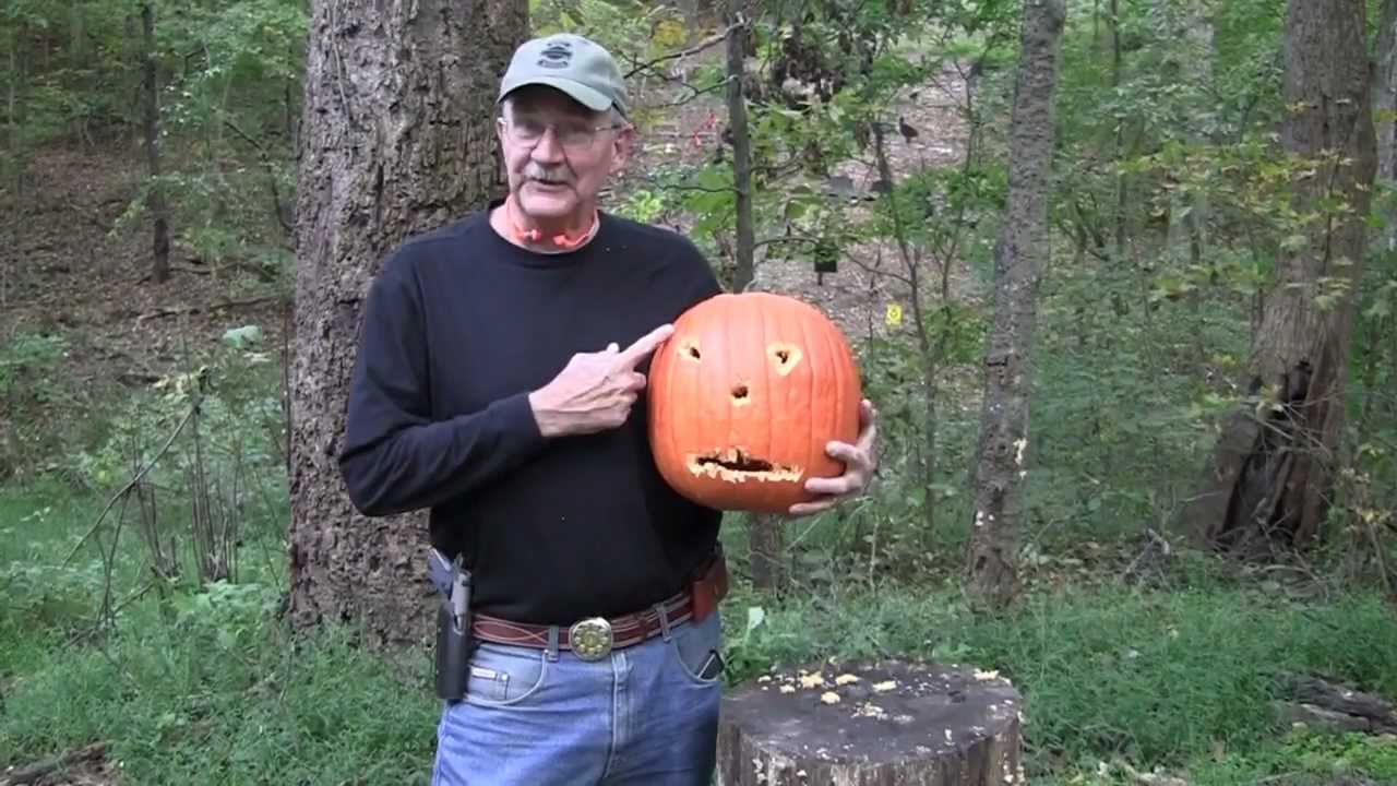 Pumpkin Carving With a Colt 1911