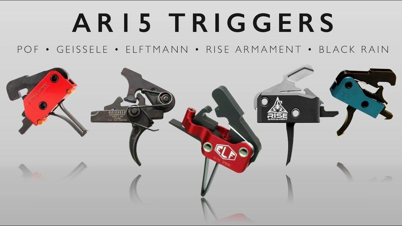 AR15 Trigger Comparison - Elftmann, Geissele, Rise Armament, Black Rain