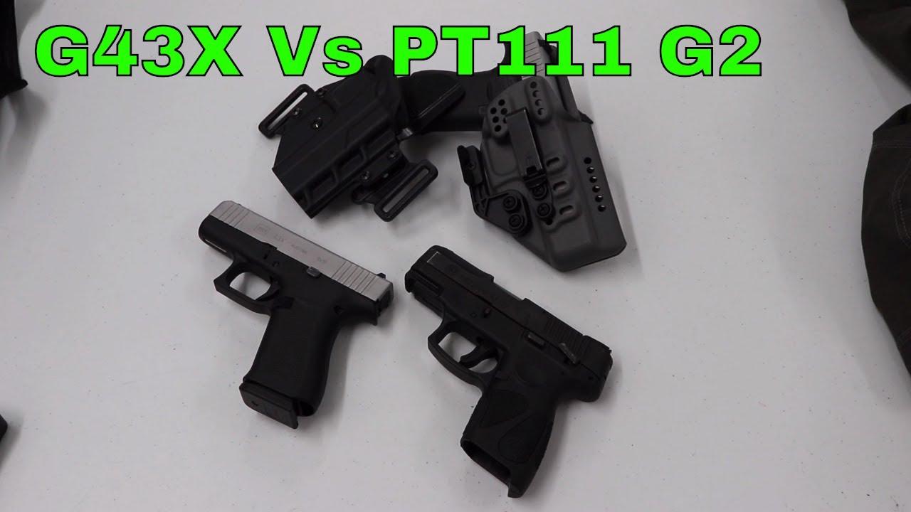 Size and Trigger Comparison: Glock 43x vs Taurus PT111 G2