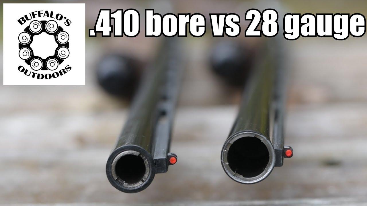 .410 vs 28 Gauge - comparison