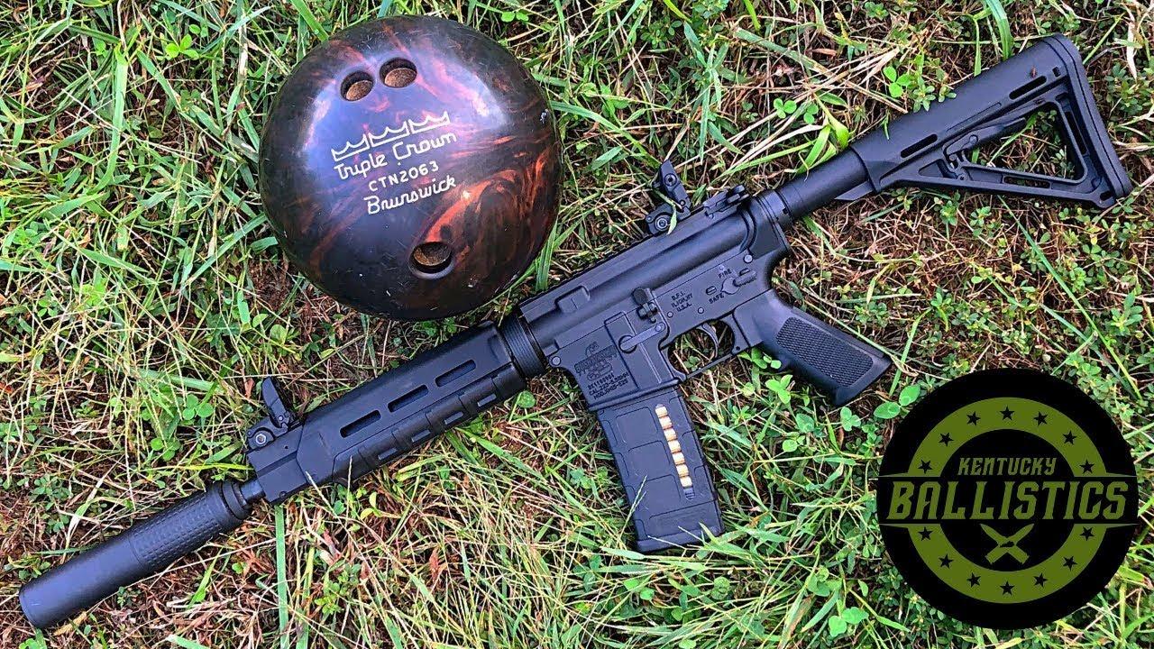 Full Auto AR-15 vs Bowling Ball (Full Auto Friday)