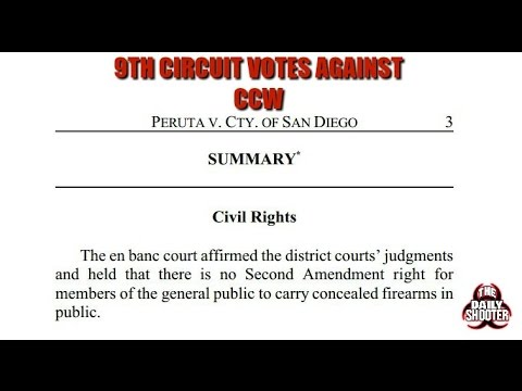9th Circuit Rules AGAINST Concealed Carry in Peruta V. San Diego